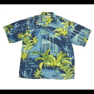 Tommy Bahama King Of Blues Silk Button Shirt